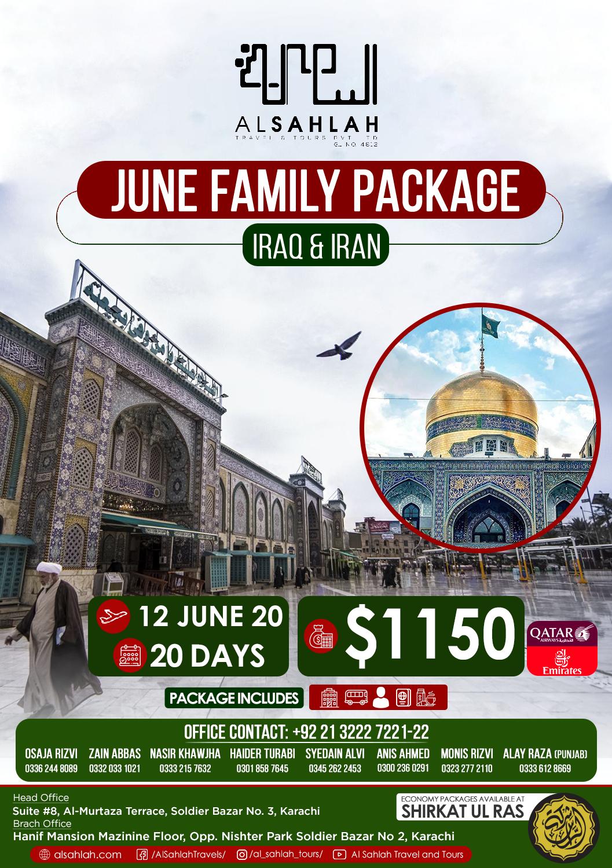 June Family Package - Iraq- Iran Ziyarat Group 2020